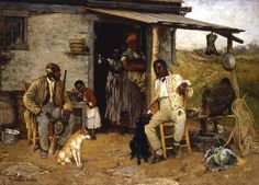 """A Dog Swap"" by Richard Norris Brooke, 1881 (Smithsonian American Art Museum, Washington, D.C.)"