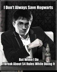 I don't always save Hogwarts... but when I do, I drink butterbeer. Stay thirsty wizards and whitches----hz
