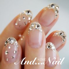 Blinged out nail art