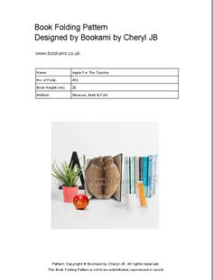 Book Folding Pattern Bookami® PDF Apple For The by Bookami