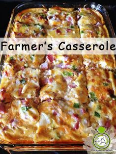 christmas recipes breakfast I have made this recipe many times for Thanksgiving morning, Christmas morning, Easter brunch, kid sleepovers, family gatherings and more. Farmers Casserole, Brunch Casserole, Breakfast Casserole Easy, Breakfast Dishes, Breakfast Recipes, Hamburger Casserole, Egg Bake Casserole, Ham And Potato Casserole, Christmas Breakfast Casserole