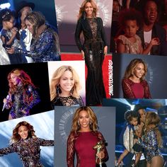 Beyonce at The 2014 Mtv Video Music Awards Collage