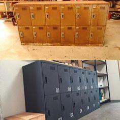 小学校のロッカーをリメイク‼︎#家具#リメイク#インダストリアル#大事に使う#cosmo#アイアン塗料