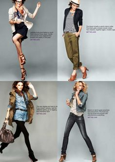 Fall looks for women. Key: Layer & menswear inspired pieces.