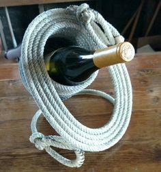 Rope wine bottle holder- Pati's