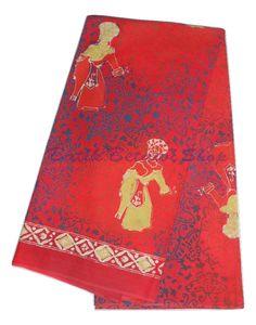 Kain Batik Betawi dengan motif Penari Betawi