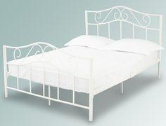 LPD Zeta Double White Metal Bed Frame