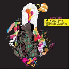 Arte por Amnistia by Tania Aristi, via Behance