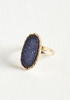 Brag and Toast Ring. Aint no shame in proposing a toast just to show off your cocktail ring! #blue #modcloth