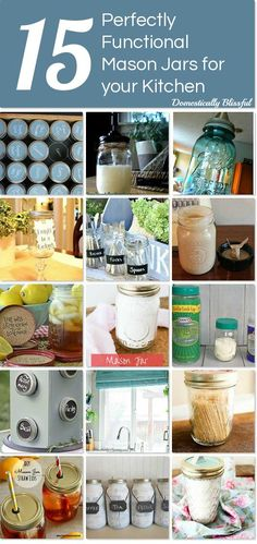 15 Perfectly Functional Mason Jars for Your Kitchen - DIY and Crafts Jar Crafts, Decor Crafts, Diy And Crafts, Bottle Crafts, Mason Jar Gifts, Mason Jar Diy, Diy Jars, Mason Jar Projects, Diy Projects