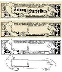 Banner and Christmas Frame ~ Free Vintage Clip Art