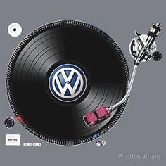 VW Tuning by Brother Adam. #djculture #turntable #VW http://www.pinterest.com/TheHitman14/dj-culture-vinyl-fantasy/