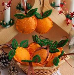 Aprenda a fazer uma laranja de feltro com moldes passo a passo | Como fazer em casa Artesanato