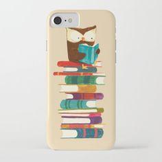 Owl Reading Rainbow iPhone Case
