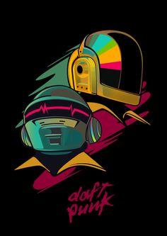 Daft punk by vincent rhafael aseo, via behance daft punk magic панк Punk Tattoo, Arte Punk, Punk Art, Affiche Star Trek, Daft Punk Poster, New Retro Wave, Wow Art, Cultura Pop, Electronic Music