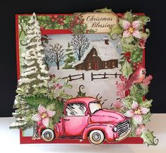 Country Christmas by DJRants - Cards and Paper Crafts at Splitcoaststampers #HeartfeltCreations