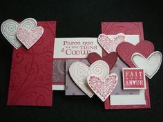 Le résultat final : une jolie carte de Saint Valentin