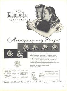 Keepsake Diamond Rings Page LIFE March 22 1948