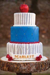 snow white themed birthday cake
