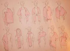 21 ways to wear a stole - part 1