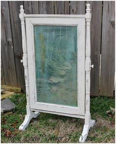 Seating chart welcome sign and more Vintage dresser mirror