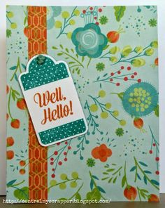 Crafting for sanity? Or insanity?: #Blossom Hello #C1614TaggedWithLove-HostessRewards #ArtPhilosophy