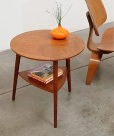 1950s Danish Modern Severin Hansen Teak Occasional Side Table Mid Century