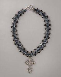 Wendy Brigode  Diamond Cross Necklace