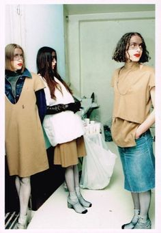 "jinxproof: ""Martin Margiela F/W 1996 "" Denim Editorial, Harajuku Girls, Fashion Beauty, Womens Fashion, Winter Collection, Fashion Photography, Women Wear, Dior, Street Style"