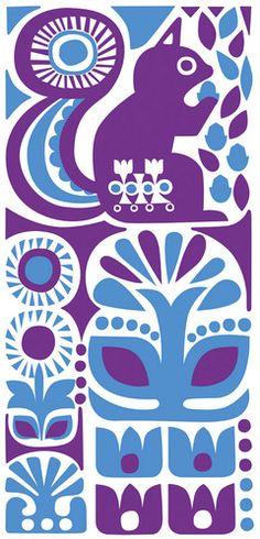 Sanna Annukka Print W/ Squirrel
