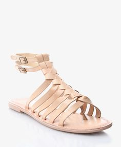 Leather Gladiator Sandals | FOREVER21   Alllllmost got these in black. Really wishing I would have!