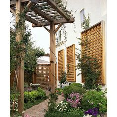 I like this idea for a small garden. It is visually stimulating and makes the space feel larger.