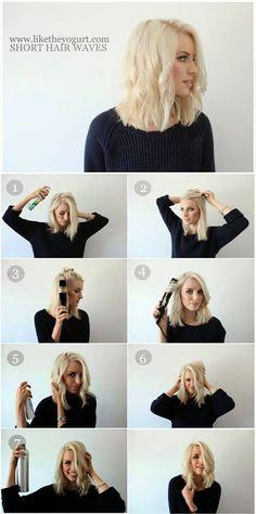 Tuto coiffure assez simple pour le réveillon du nouvel an! Easy Short Hair Waves