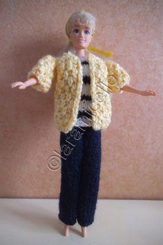 Free barbie tutorial: yellow jacket navy