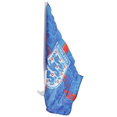 England FA Official Blue Lightning Three Lions Football Crest Car Flag  | eBay