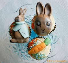 Peter Cottontail cupcakes by Mili's Sweets
