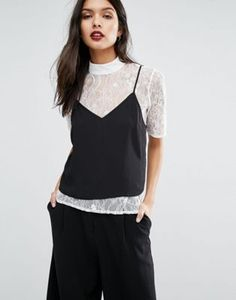 ASOS 2 in 1 Cami & Lace Top