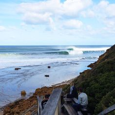 The west was  yesterday!!! I crutched my down the stairs at Wiki to watch the action. Loads of big barrels drop ins and snapped boards. This was my view looking across to Bells. by tommy_siera http://ift.tt/1KnoFsa
