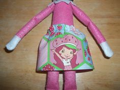 Christmas Elf doll skirt pink and green with Strawberry Shortcake on it by on Etsy Christmas Elf Doll, Strawberry Shortcake, Pink And Green, Dolls, Skirt, Etsy, Rock, Doll, Skirts