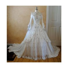 Pink Rosebud Off Shoulder Romantic Fantasy Gown Custom ($1,150) via Polyvore
