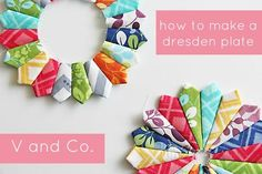 excellent dresden plate tutorial ~ V and Co