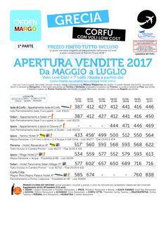 Offerta Grecia Corfu aperture vendite con voli low cost