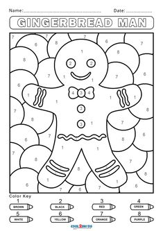 Kindergarten Colors, Preschool Colors, Numbers Preschool, Preschool Activities, Halloween Color By Number, Christmas Color By Number, Christmas Colors, Alphabet Coloring Pages, Printable Coloring Pages