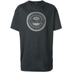 Balmain Logo Print Cotton T-Shirt ($540) ❤ liked on Polyvore featuring men's fashion, men's clothing, men's shirts, men's t-shirts, black, mens short sleeve shirts, mens cotton shirts, mens logo t shirts, balmain men's t shirt and balmain mens shirt