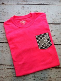 Alabama Elephant Pocket Tee Shirt by PinkTulipOfDaphne on Etsy, $22.00