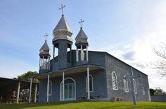 Igreja ucraniana da comunidade de Imbuia, município de Cândido de Abreu