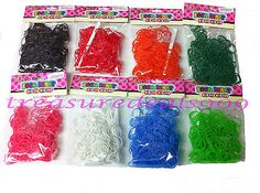 4800 pcs loom bands #refills s clips rubber #bracelet 16 bags 300 #count each col,  View more on the LINK: http://www.zeppy.io/product/gb/2/171220062378/