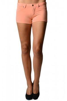 Women's Ultra Stretch Brazilian Moleton Shorts-Orange