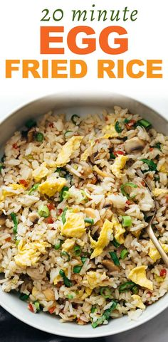Check out my secret tips to making amazing restaurant style Chinese egg fried rice at home! Just 20 minutes and no one will believe its homemade. Best takeout at home recipe. Use chicken, pork, tofu, beef or shrimp to add variations. Fried Rice Recipe Chinese, Beef Fried Rice, Fried Rice With Egg, Special Fried Rice Recipe, Homemade Fried Rice, Easy Rice Recipes, Asian Recipes, Chinese Recipes, Egg Rice Recipe