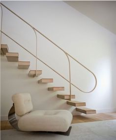 oscar niemeyer lounge chair, 1972 and floating stairs staircase Home Stairs Design, Interior Stairs, Interior Architecture, House Design, Staircase Architecture, Stair Design, Railing Design, Chinese Architecture, Futuristic Architecture